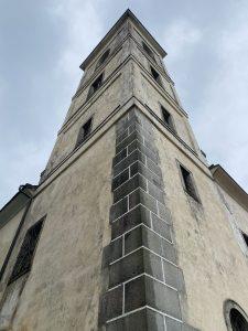 kostel Nejsvětější Trojice u Nové Bystřice věž