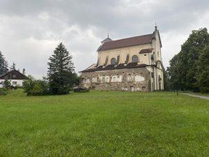 kostel Nejsvětější Trojice u Nové Bystřice zbořený klášter